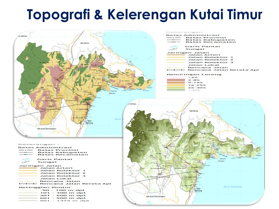 Topografi & Kelerengan Kutai Timur