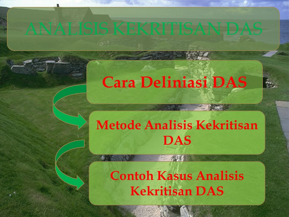 Metode Analisis Kekritisan DAS Contoh Kasus Analisis Kekritisan DAS