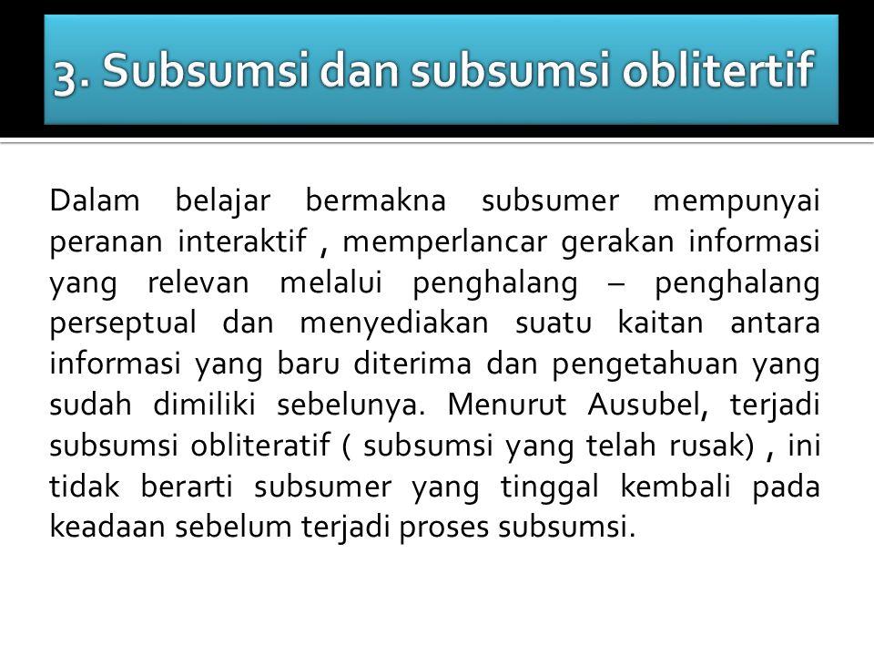 3. Subsumsi dan subsumsi oblitertif