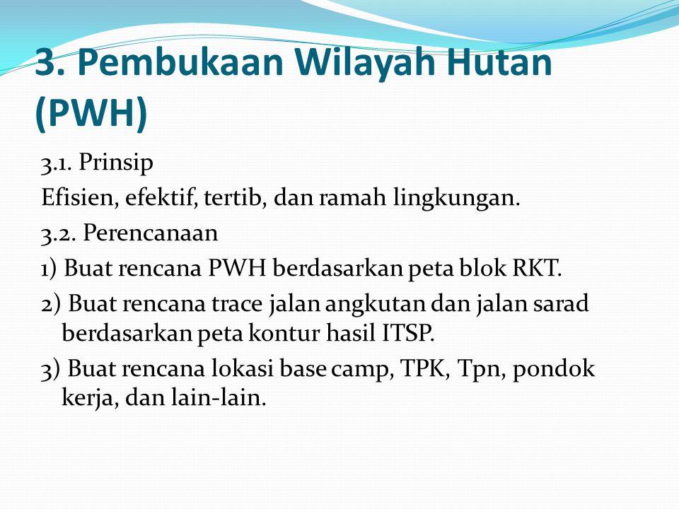 3. Pembukaan Wilayah Hutan (PWH)