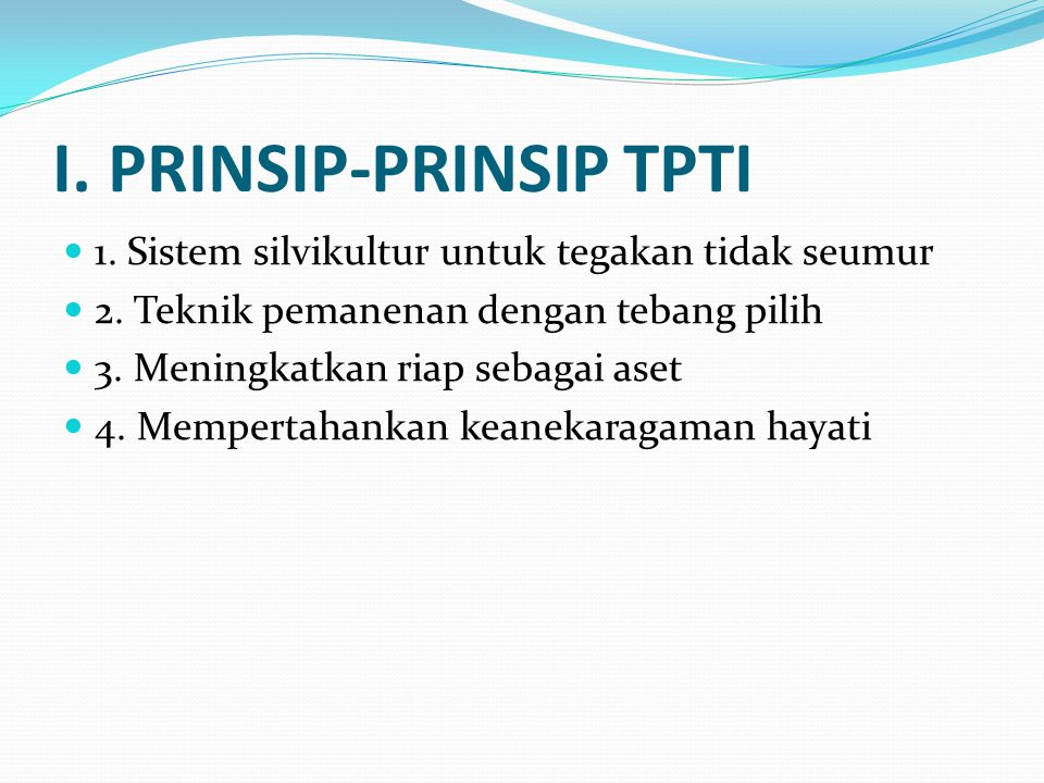 I. PRINSIP-PRINSIP TPTI