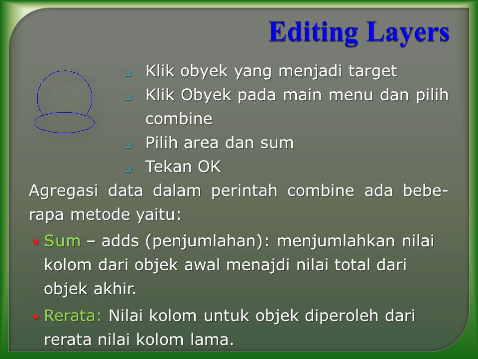 Editing Layers Klik obyek yang menjadi target