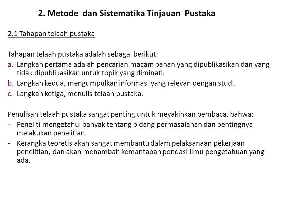 2. Metode dan Sistematika Tinjauan Pustaka