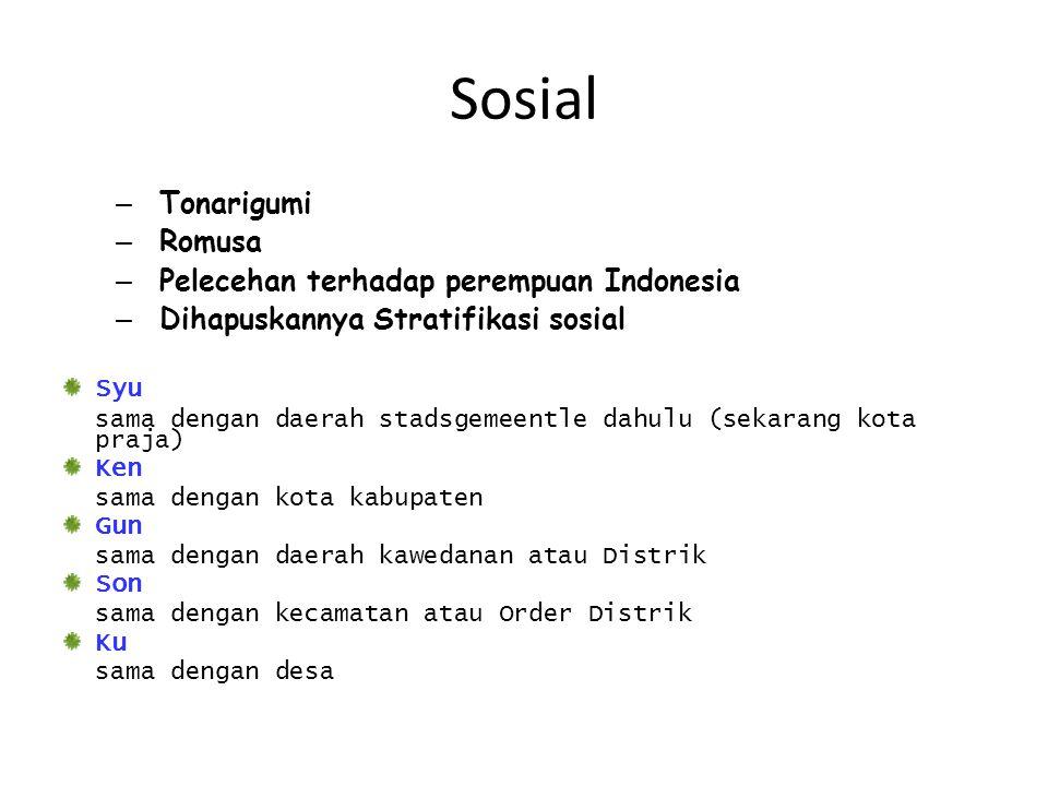 Sosial Tonarigumi Romusa Pelecehan terhadap perempuan Indonesia