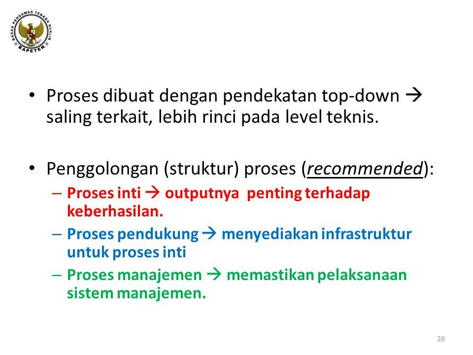 Penggolongan (struktur) proses (recommended):
