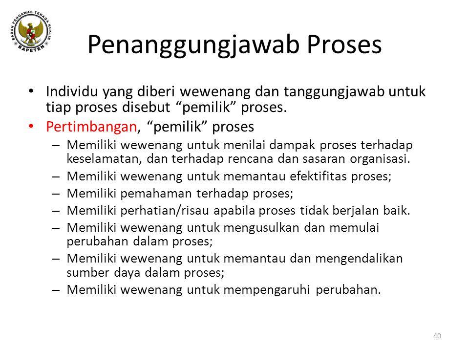 Penanggungjawab Proses