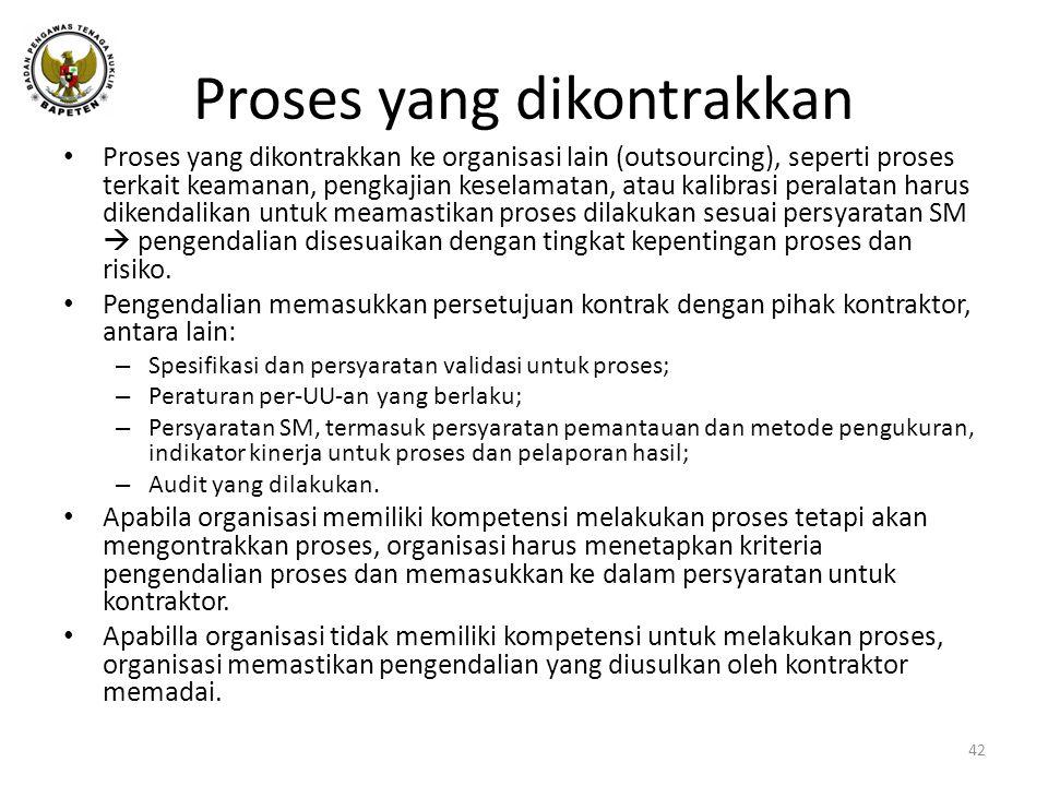 Proses yang dikontrakkan