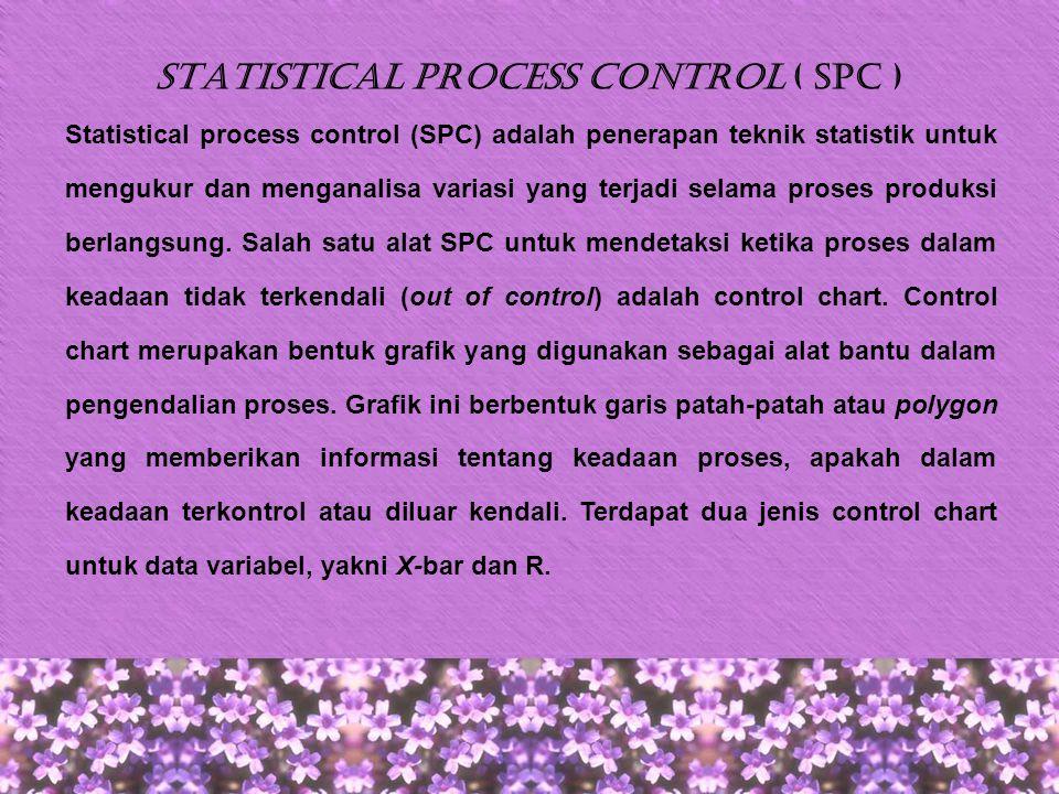Statistical process control ( SPC )