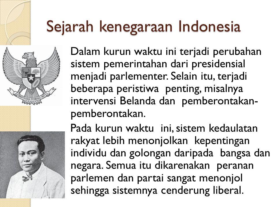 Sejarah kenegaraan Indonesia