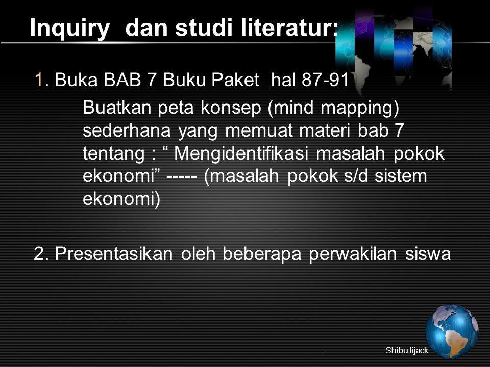 Inquiry dan studi literatur: