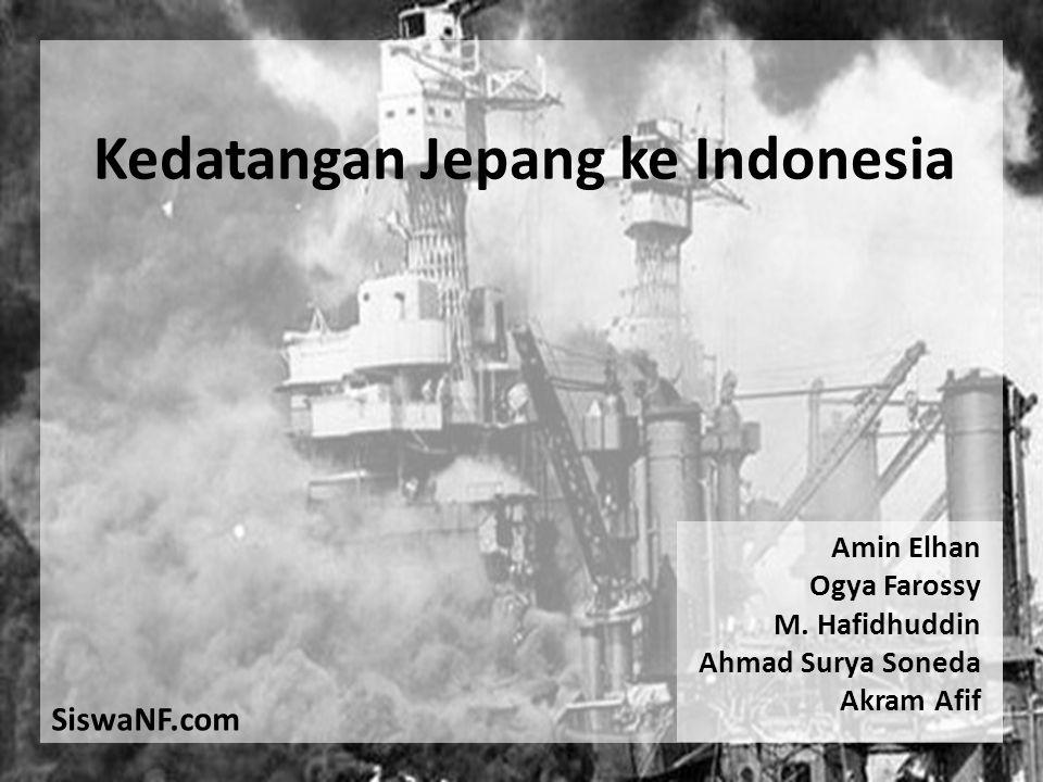 Kedatangan Jepang ke Indonesia