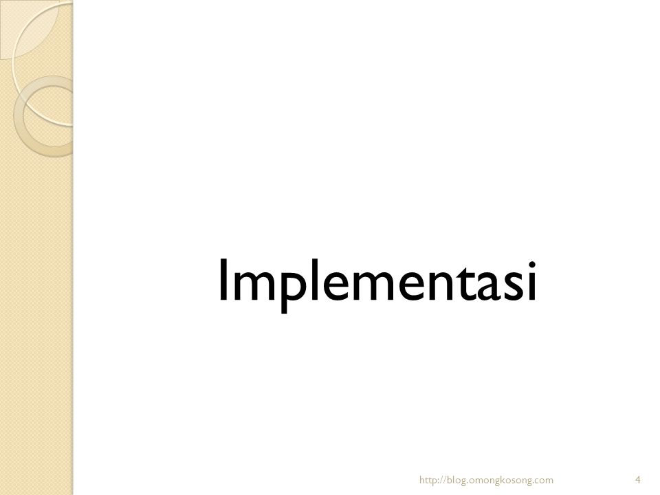 Implementasi http://blog.omongkosong.com