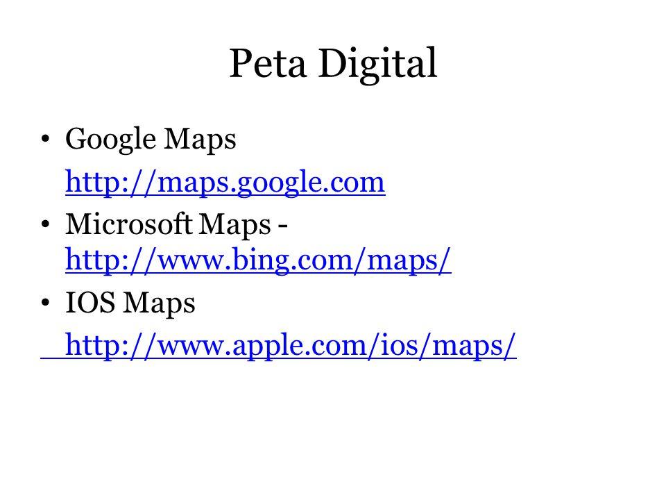 Peta Digital Google Maps http://maps.google.com