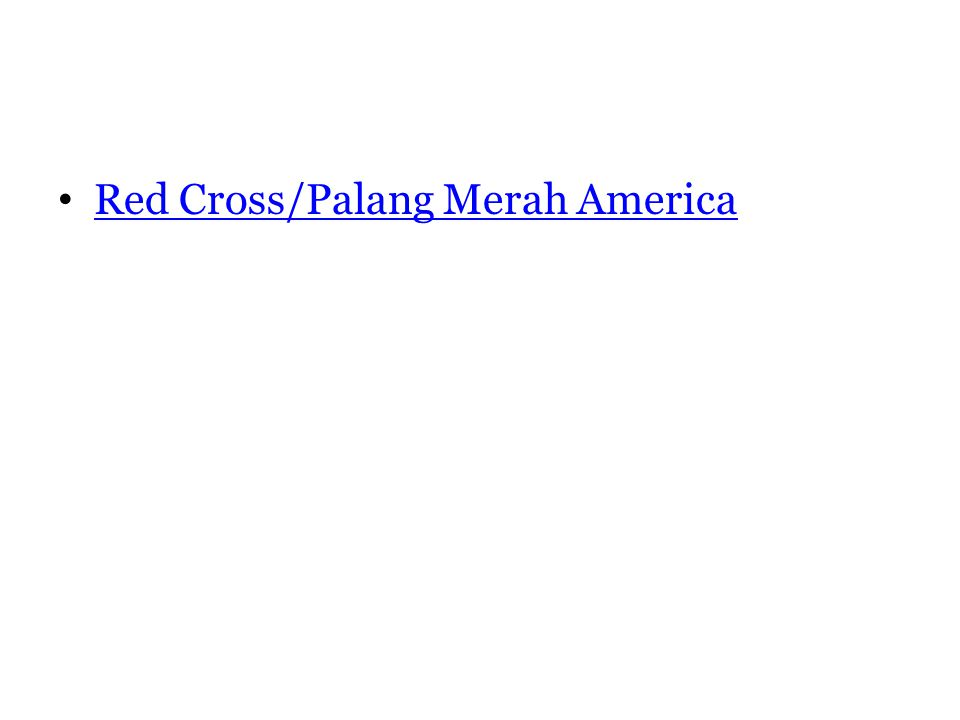 Red Cross/Palang Merah America