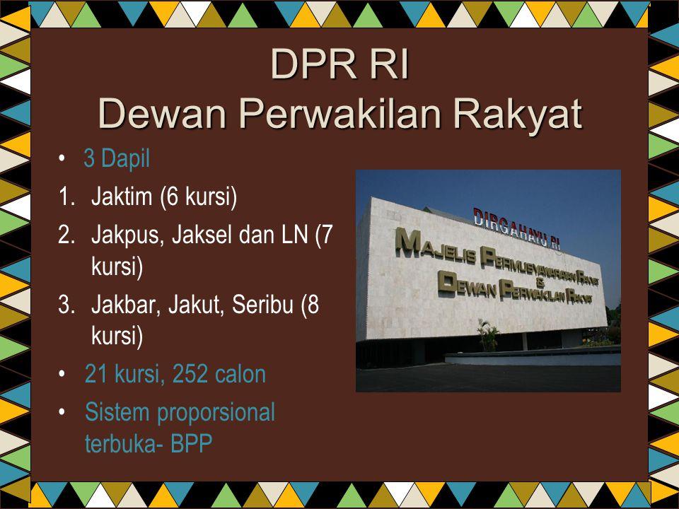 DPR RI Dewan Perwakilan Rakyat