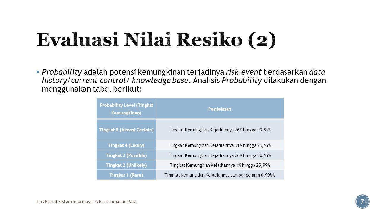 Evaluasi Nilai Resiko (2)