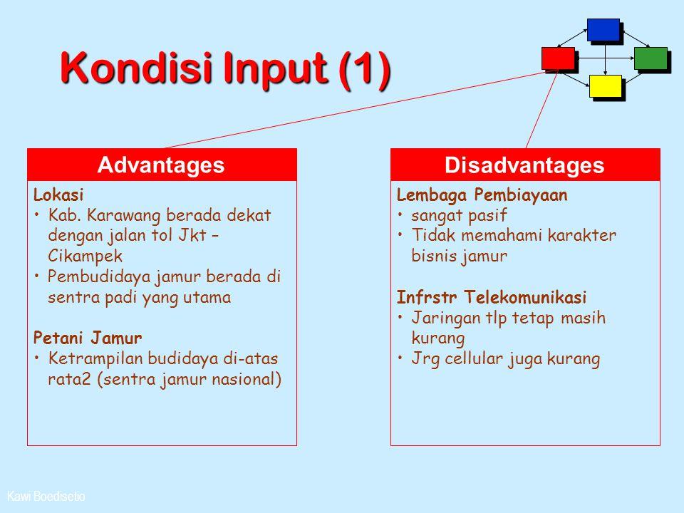 Kondisi Input (1) Advantages Disadvantages Lokasi