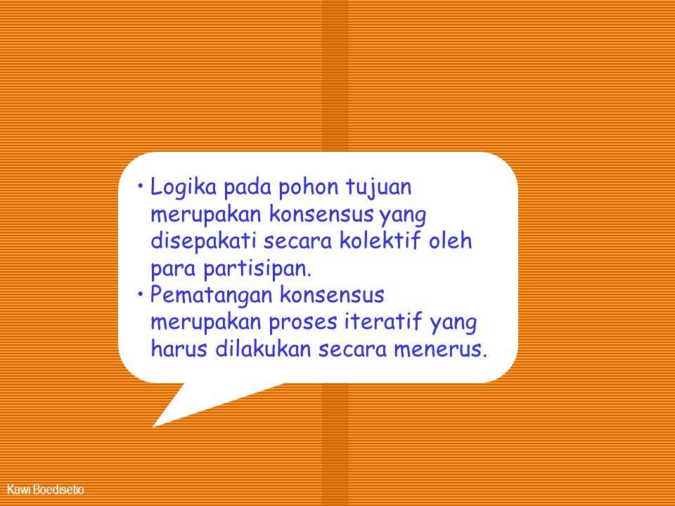 Logika pada pohon tujuan merupakan konsensus yang disepakati secara kolektif oleh para partisipan.