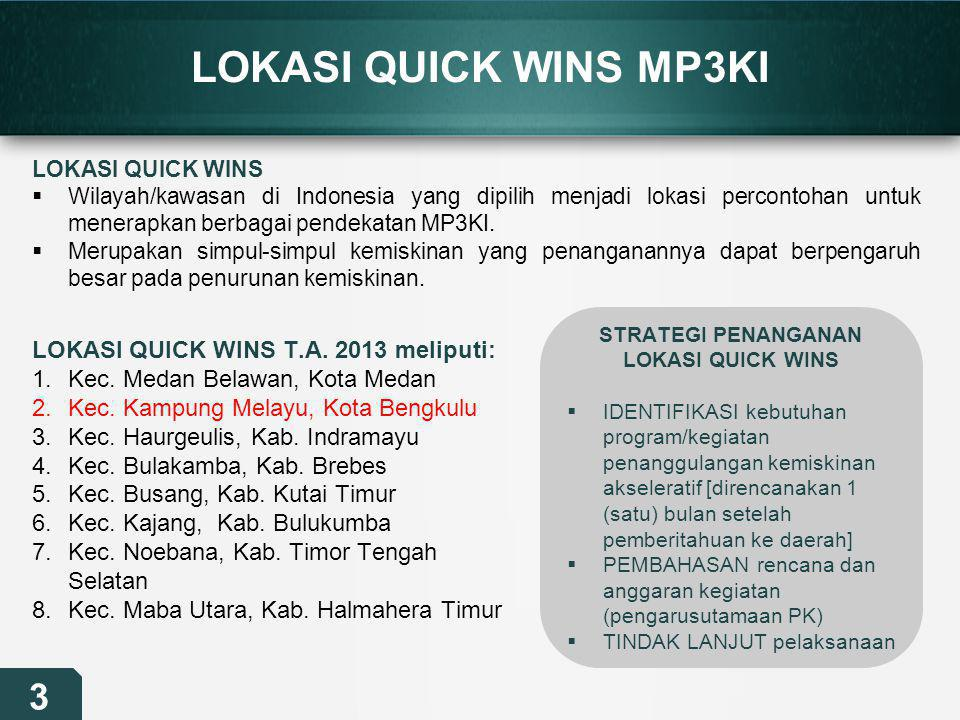 STRATEGI PENANGANAN LOKASI QUICK WINS