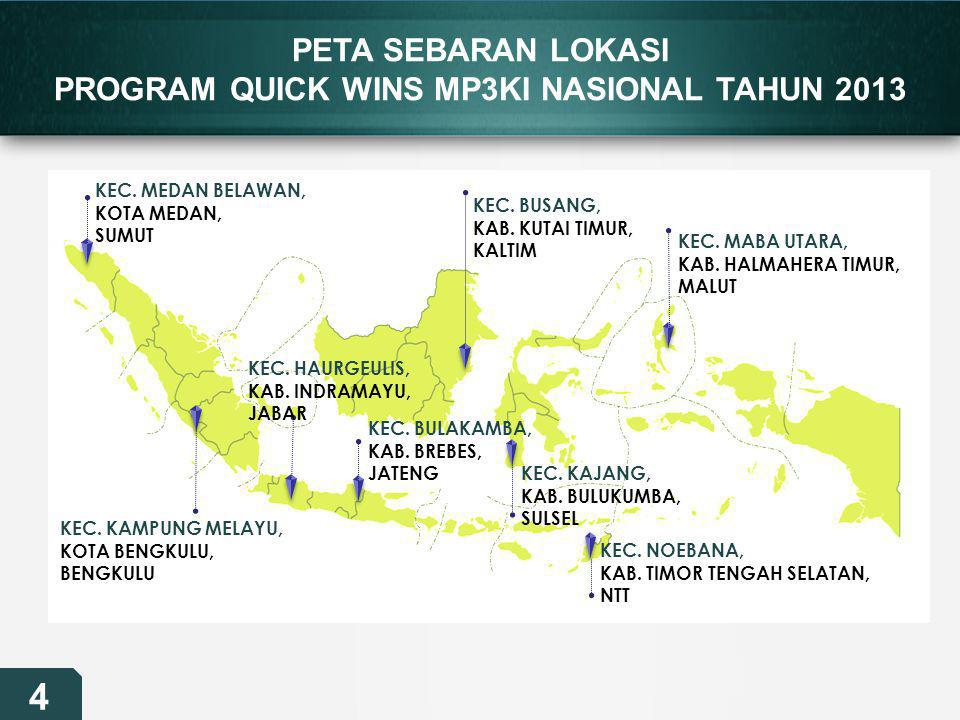 PROGRAM QUICK WINS MP3KI NASIONAL TAHUN 2013