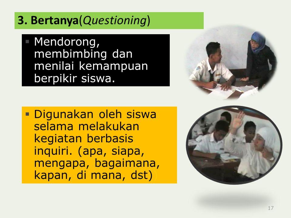 3. Bertanya(Questioning)
