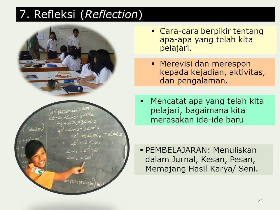 7. Refleksi (Reflection)