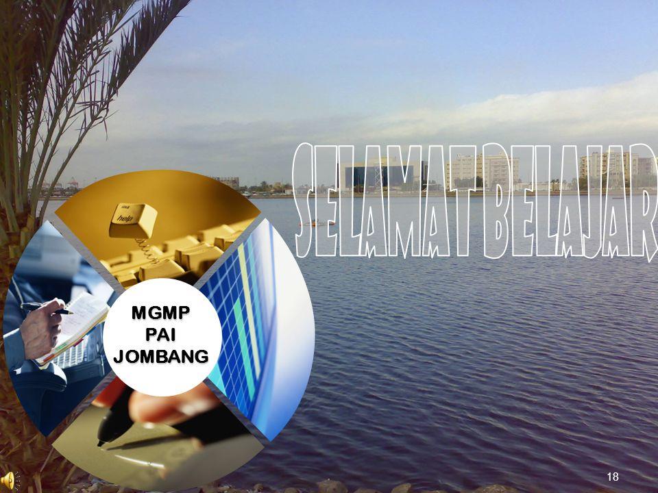 SELAMAT BELAJAR MGMP PAI JOMBANG 18