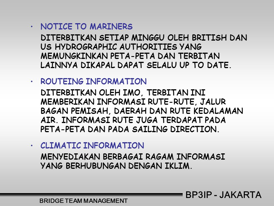 BRIDGE TEAM MANAGEMENT