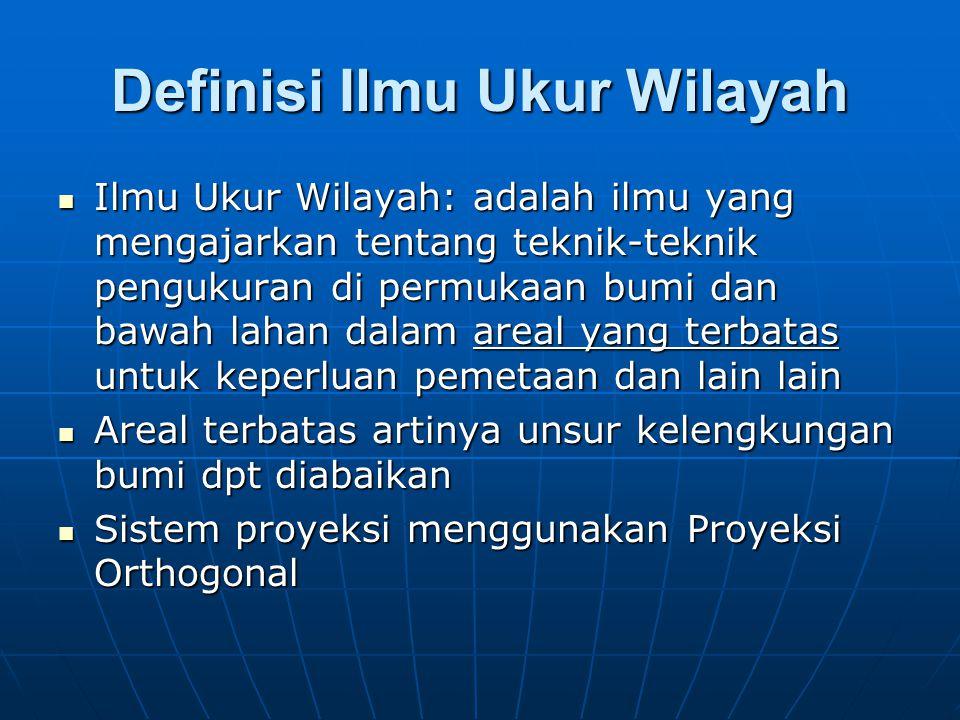 Definisi Ilmu Ukur Wilayah