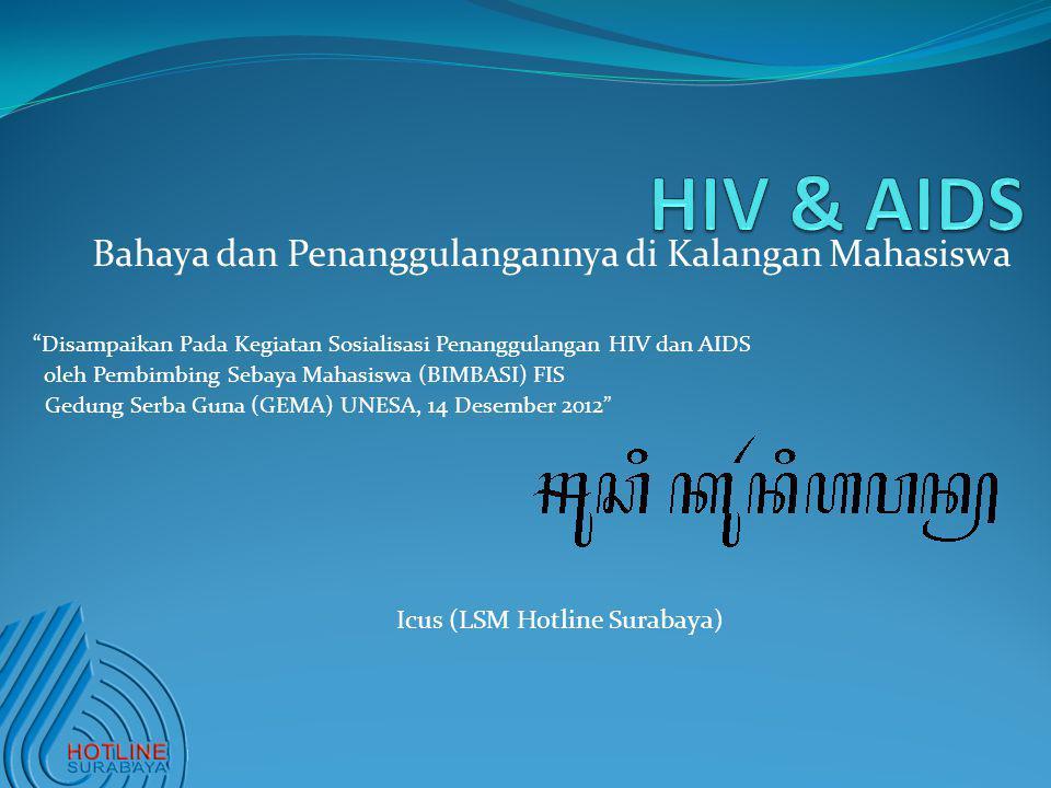 HIV & AIDS Bahaya dan Penanggulangannya di Kalangan Mahasiswa