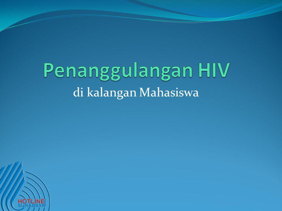 Penanggulangan HIV di kalangan Mahasiswa