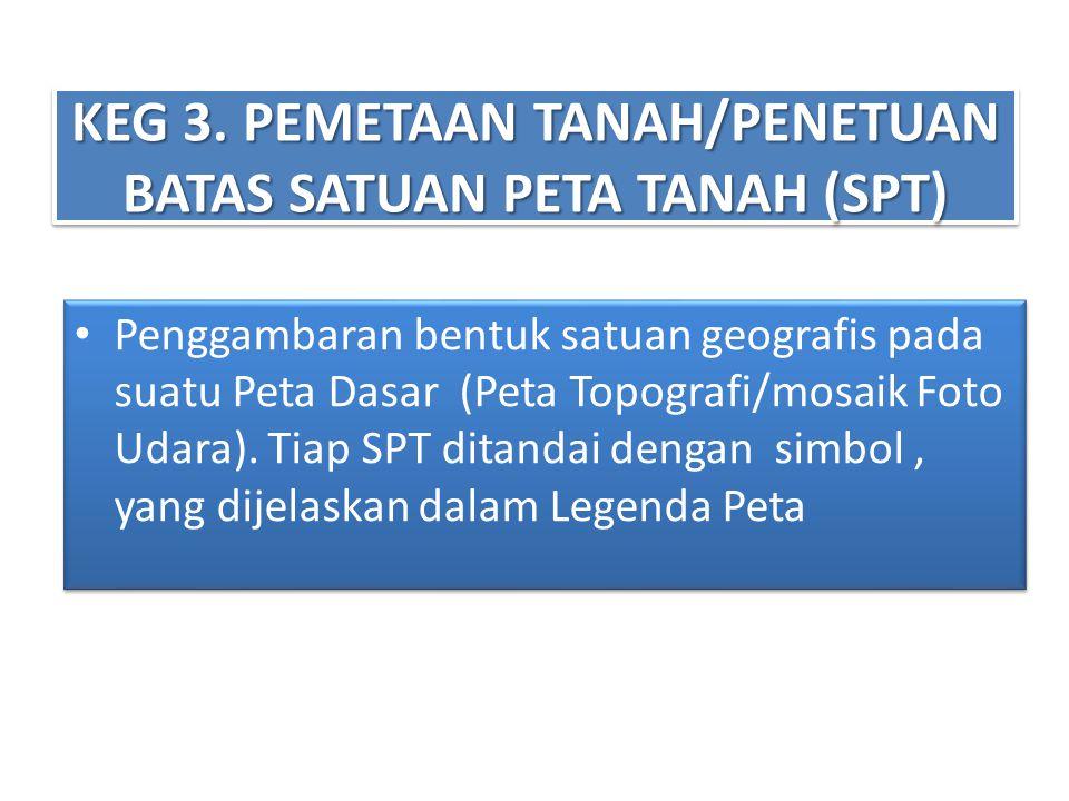 KEG 3. PEMETAAN TANAH/PENETUAN BATAS SATUAN PETA TANAH (SPT)