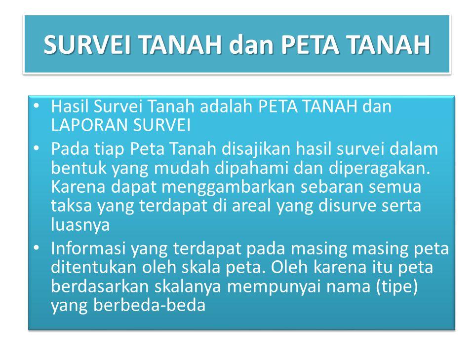 SURVEI TANAH dan PETA TANAH