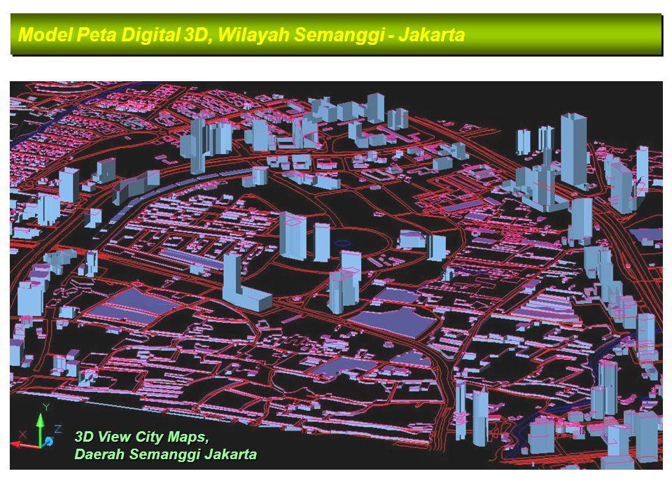 Model Peta Digital 3D, Wilayah Semanggi - Jakarta