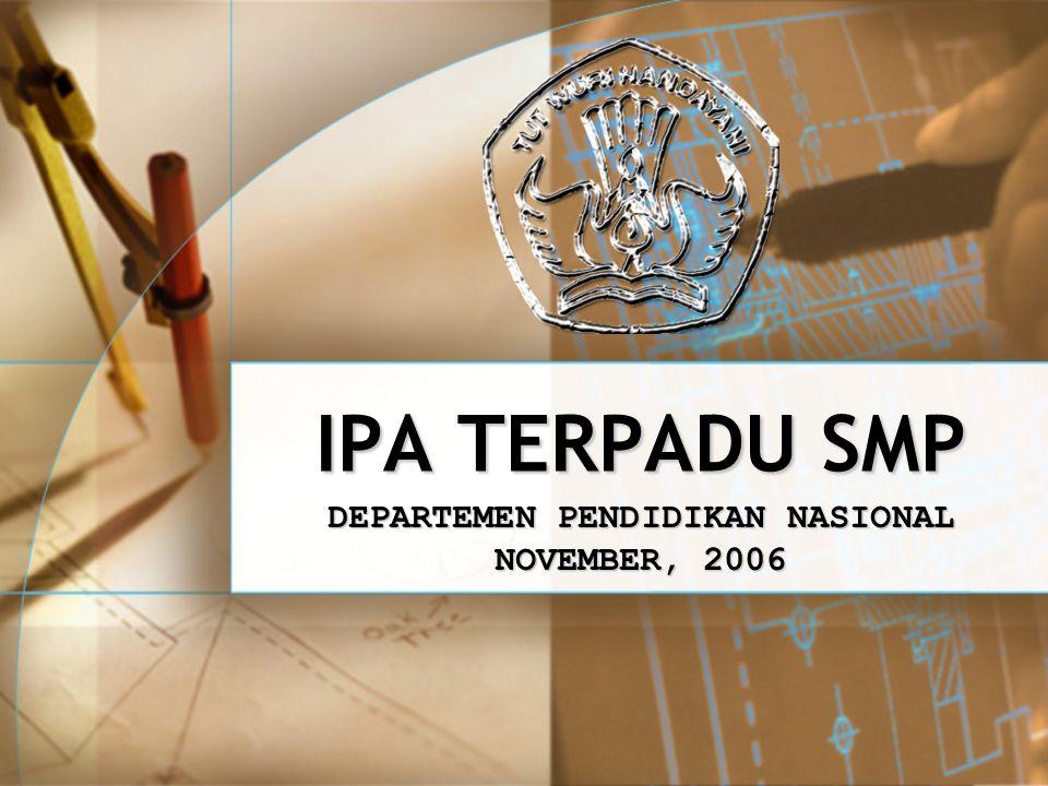DEPARTEMEN PENDIDIKAN NASIONAL NOVEMBER, 2006
