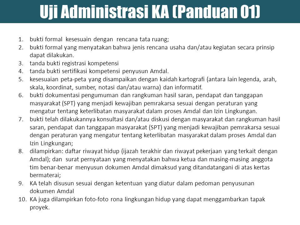 Uji Administrasi KA (Panduan 01)