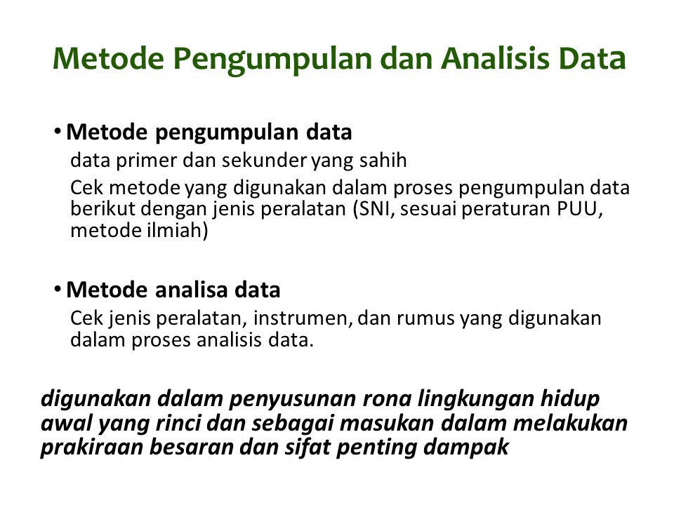 Metode Pengumpulan dan Analisis Data