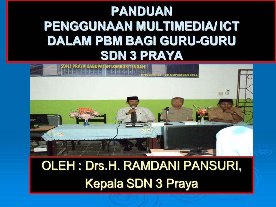 OLEH : Drs.H. RAMDANI PANSURI,