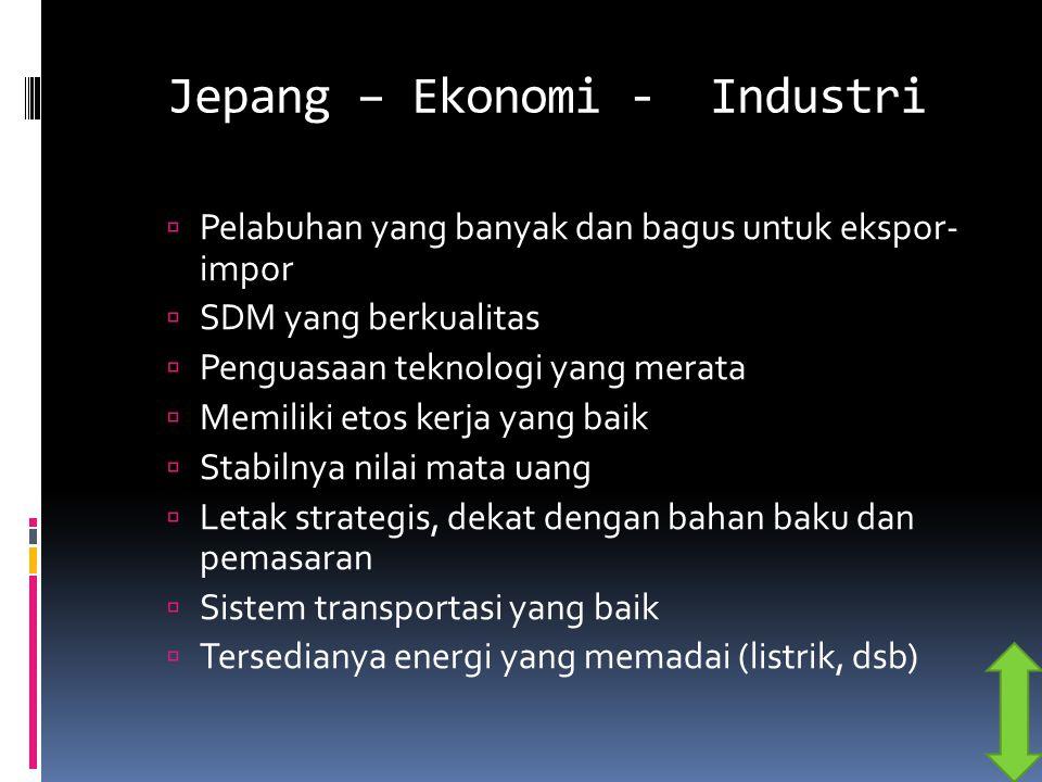 Jepang – Ekonomi - Industri