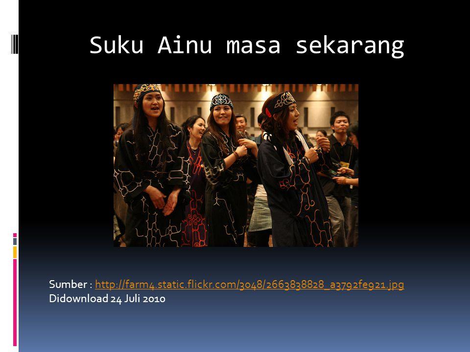 Suku Ainu masa sekarang