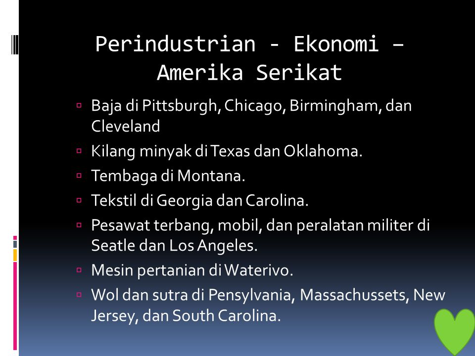 Perindustrian - Ekonomi – Amerika Serikat