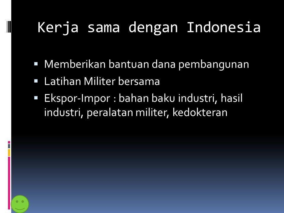 Kerja sama dengan Indonesia