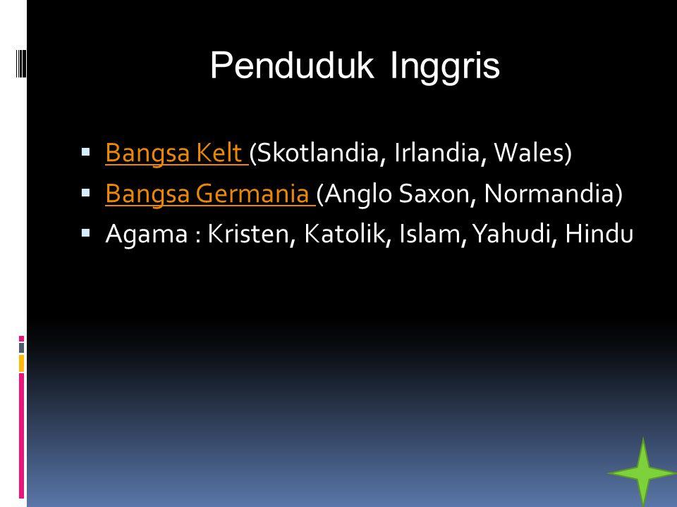 Penduduk Inggris Bangsa Kelt (Skotlandia, Irlandia, Wales)