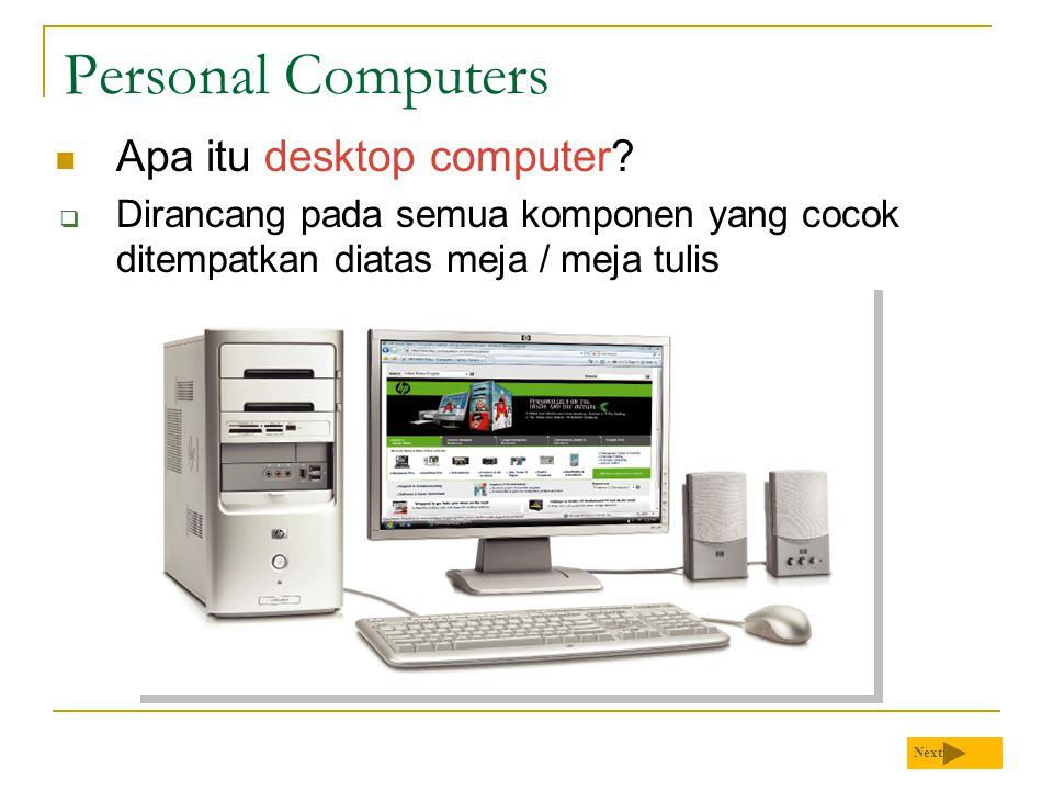 Personal Computers Apa itu desktop computer