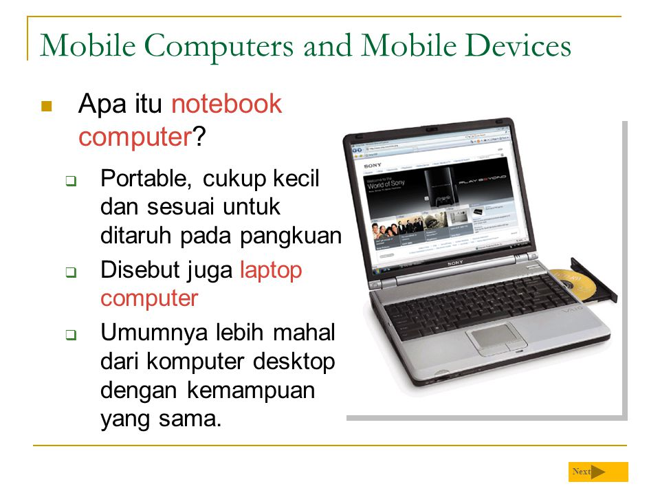 Mobile Computers and Mobile Devices
