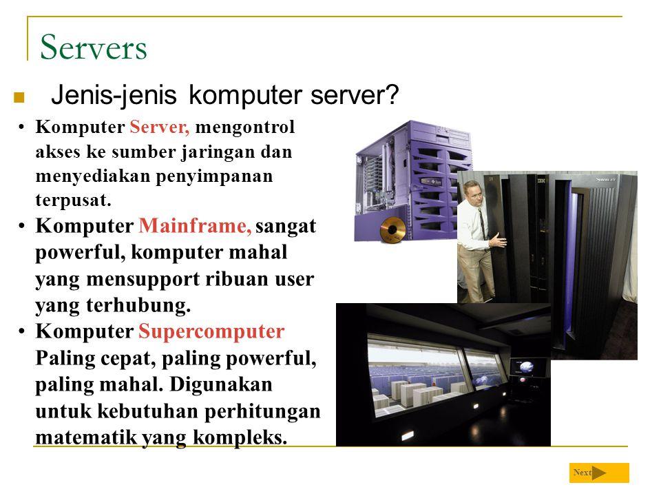 Servers Jenis-jenis komputer server