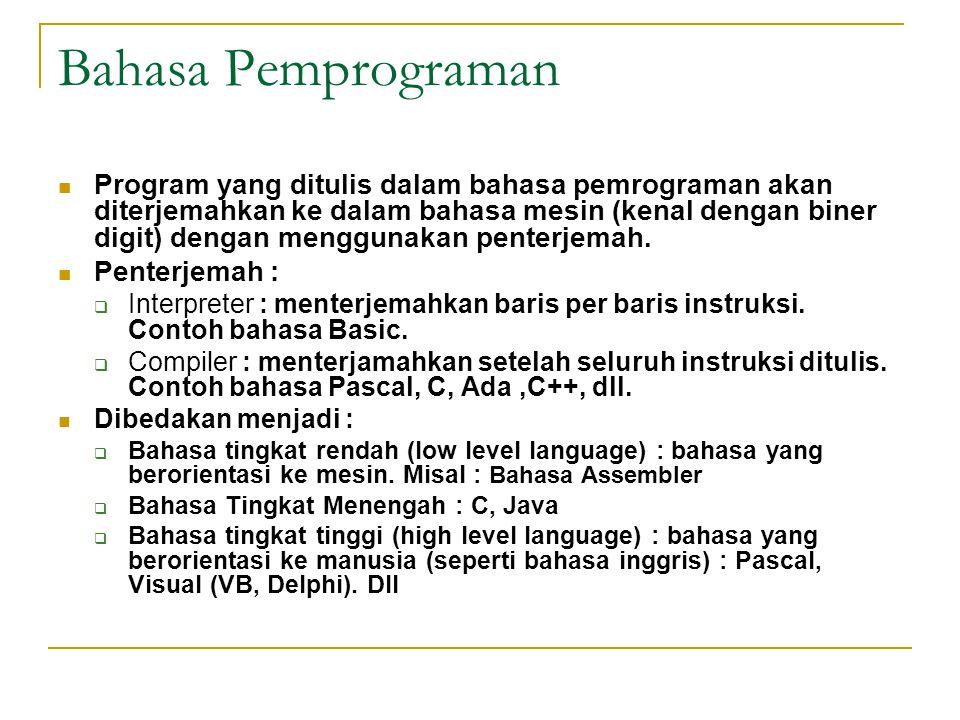 Bahasa Pemprograman
