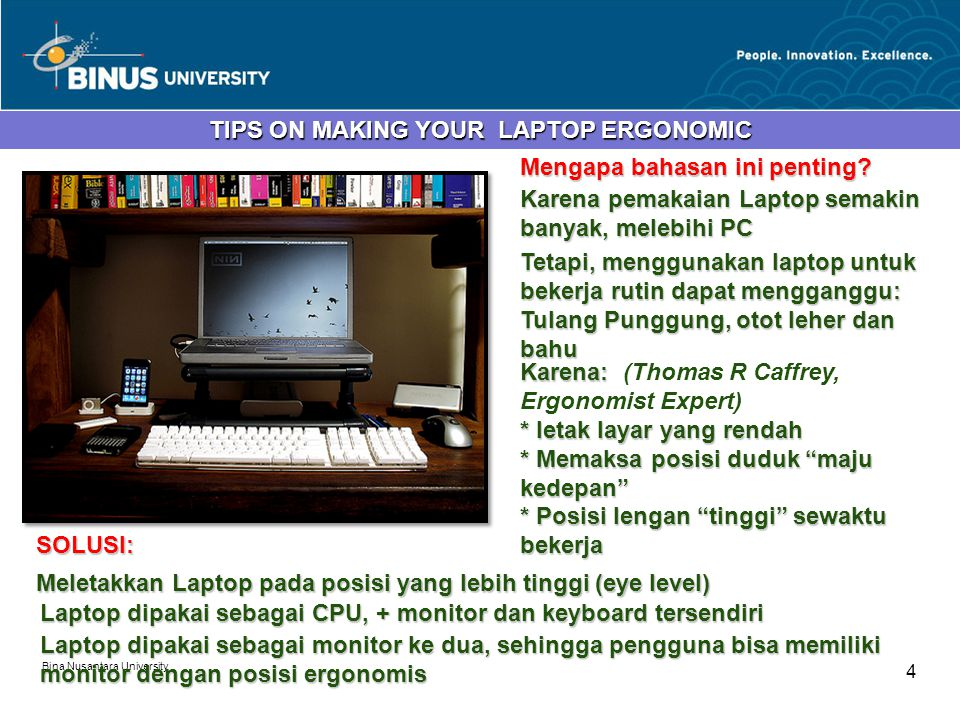TIPS ON MAKING YOUR LAPTOP ERGONOMIC