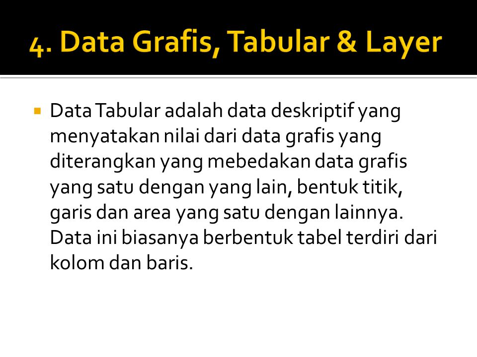4. Data Grafis, Tabular & Layer
