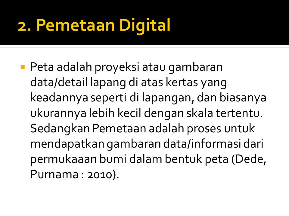 2. Pemetaan Digital